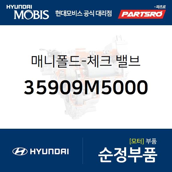 매니폴드-체크 밸브 (35909M5000) 넥쏘 현대모비스부품몰